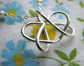 Graduation Small Celtic Sister Pendant Necklace - Tattoo Design Symbol Heart Trilogy - Sterling Silver - Graduate Gift Sister Best Friends