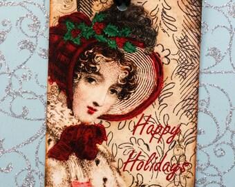 Victorian Christmas Jane Austen Gift Tags