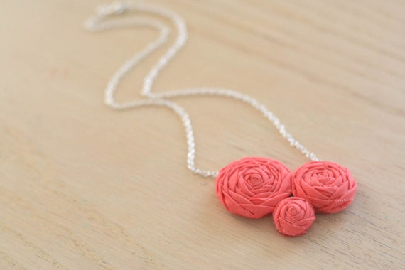 RESERVED - eisley necklaces, coral.