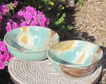 Set of two Nesting Bowls - Visit shop for more Handmade Pottery