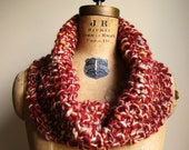 SALE. Chunky knit cowl  Rust.  Olive. Gold.