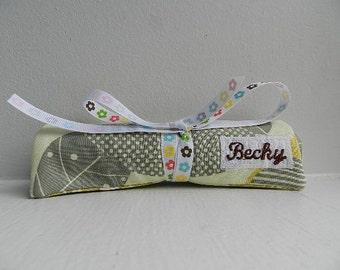Bulk Sale- Destination Wedding Gift - Set of 8 Travel Jewelry Roll Organizer w/ Full Name Embroidery