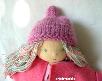Waldorf fairy doll 12inch for children and toddler, Steiner Waldorf education- clothes for winter and summer