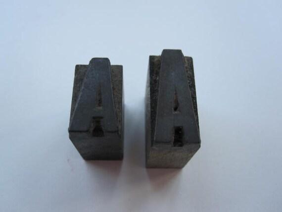 Vintage Letterpress Blocks Letter A