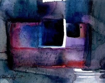 Abstraction Series . 211 ... Original abstract watercolor art ooak painting by Kathy Morton Stanion  EBSQ