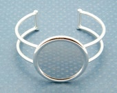 Cuff Bracelet Blank - Silver Plated Adjustable Cuff Bangle Bracelet Blank Base, Great for Collage or Altered Art