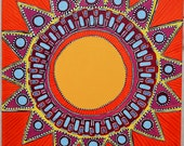 Original Mandala Art: Sunshine Inspirational Meditative Reflective