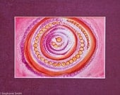 Original Mandala Art: Protection At The Core Mantra Meditation