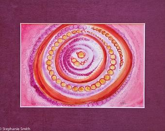 Original Mandala Art: Protection At The Core Mantra Meditation