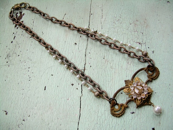 Repurposed Necklace - The Holiday