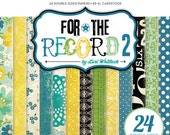echo park 2012 papers pack - for the record 2 - DOCUMENTED collection - set of 24 - double side cardstock - 6x6