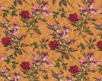 Pretty Red Roses All Over Fabric, 100% Cotton