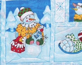 Having Fun In The Snow Fabric