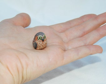 OOAK Hand Made Sculpted Tiny Miniature Critter by Amber Rose Creations. Baby Owl Owlet Or custom wild animal or pet