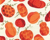 FABRIC SALE, CLOSEOUT Fabric, Sunflower Daze Pumpkin Patch Cream by Kavas Benartex Designer Fabric, 2.50 per Yard
