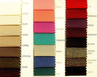 "Ponte Stretch Double Knit Fabric choice of color by the yard  60"" pants, suits, dresses , western wear"