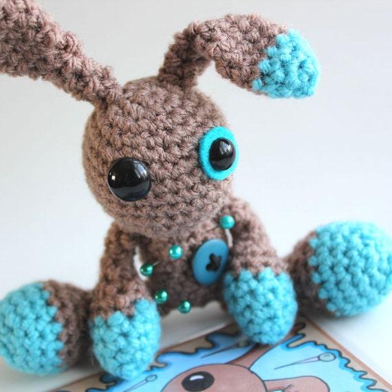Reggie the Amigurumi Voodoo Bunny