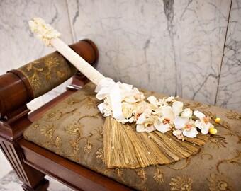 Wedding Broom-Beaded Handle 'The Aaliyah B' 'Timeless Beauty'