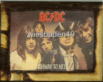 AC/DC Highway to Hell - Wooden Plaque