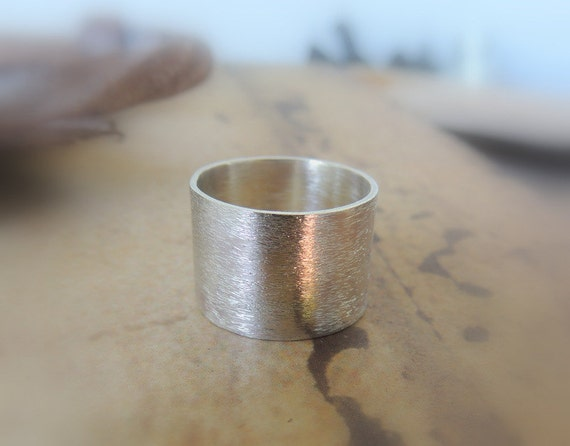 Wide Sterling Silver Ring Band