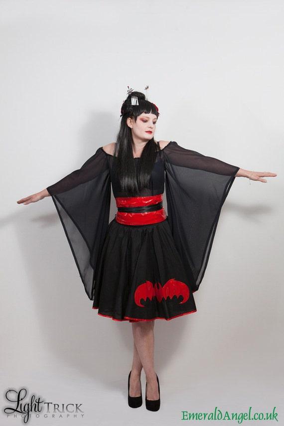 Chiffon Kimono Top, Gothic, Lolita, Geisha.