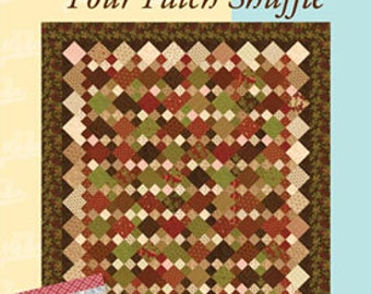 Four Patch Shuffle Quilt Pattern Moda University Uses Jelly Rolls and Charm Packs