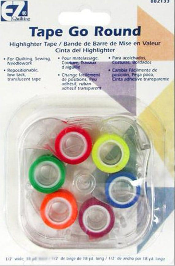 Ez tape go round quilting tape ruler tape highlighter for Low tack tape for crafting