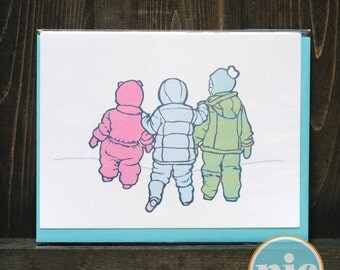 Snowsuits -- Holiday Card From The Nic Studio