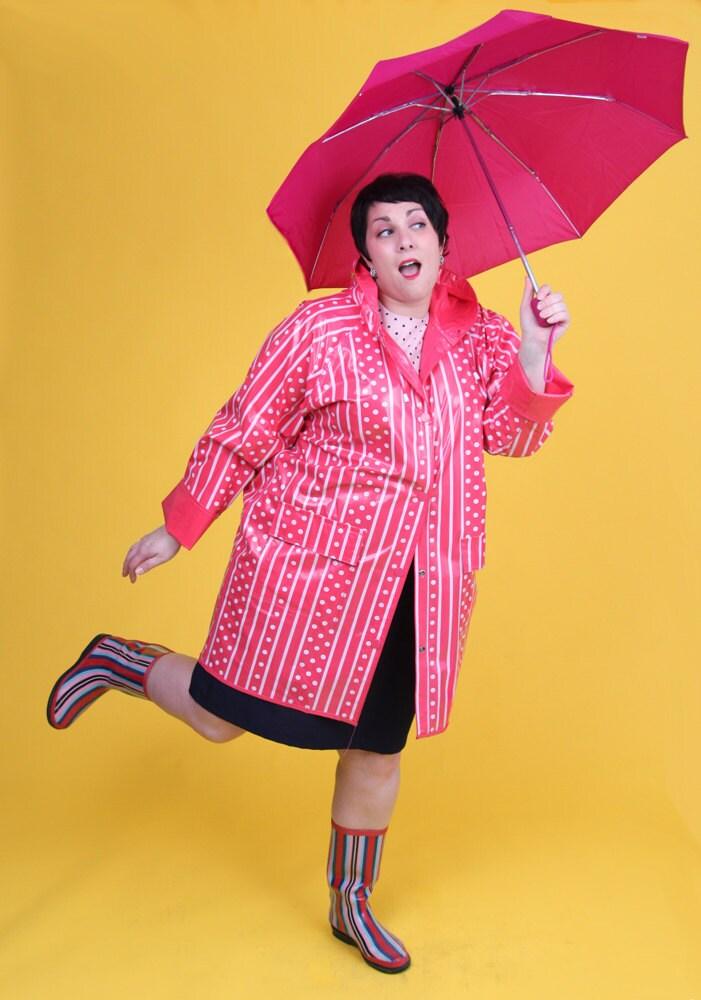 Chance of Showers Vintage Raincoat Plus Size Size 18 20