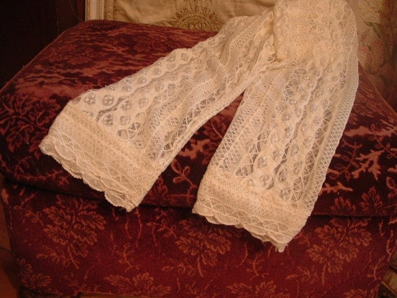 New Lace Fabric---Ruffled Romantic Lace Leggings or Tights - Cream - READY TO SHIP