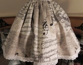Edinburgh Symphony Skirt - Steampunk Woodland Flowers SIze M