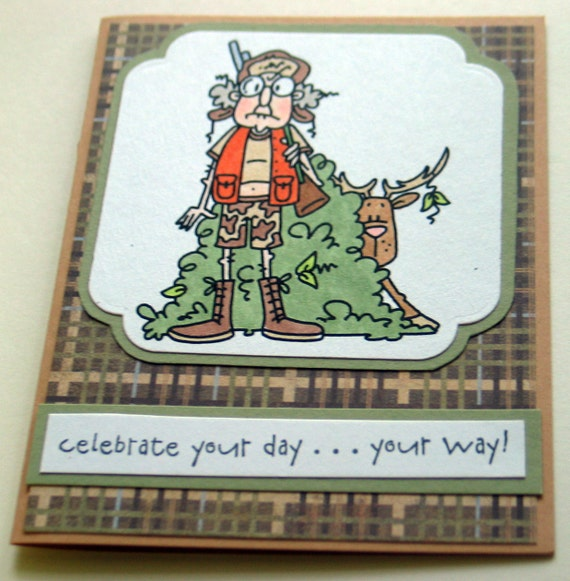 items similar to birthday card humorous hunting on etsy, Birthday card