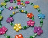 Girl's Flower Garden Necklace Bracelet Set
