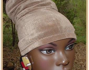 Headband-Tube-Dreadlocks-Khaki-Taupe-Locs-Natural Hair-Virtuous Creations