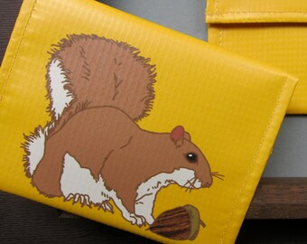 Squirrel Coin Purse / Pouch / Wallet -- Eco Friendly