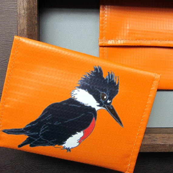 Kingfisher Coin Purse / Pouch / Wallet -- Eco Friendly--Bird Watcher Gift