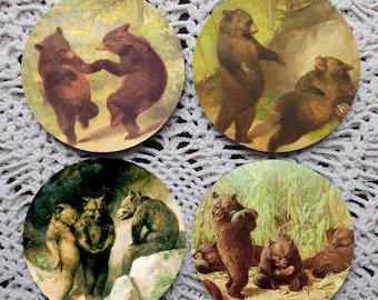 Bear Necessities -- William Holbrook Beard Mousepad Coaster Set