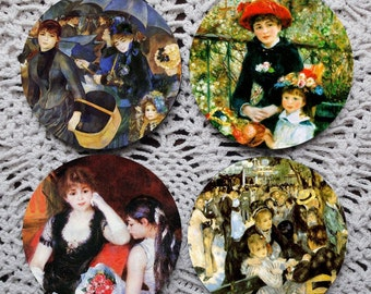 I'm So Impressed -- Renoir Art Mousepad Coaster Set
