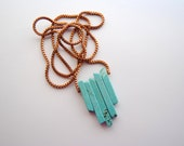 Turquoise Arrow Necklace - FREE US Shipping