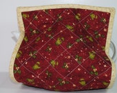Tea Cozy, Christmas red quilted fabric