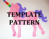 Applique PDF TEMPLATE Pattern Only......UNICORN...New