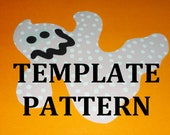 Fabric Applique PDF TEMPLATE Pattern ONLY Goofy Ghost...New