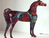 Model Arabian Horse Porcelain Raku Horse Sculpture One of a Kind Spangle