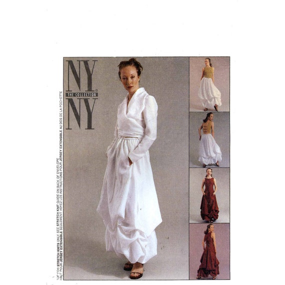 NY collection dress top balloon skirt blouse sewing pattern McCalls 2679 Bust 36 to 40