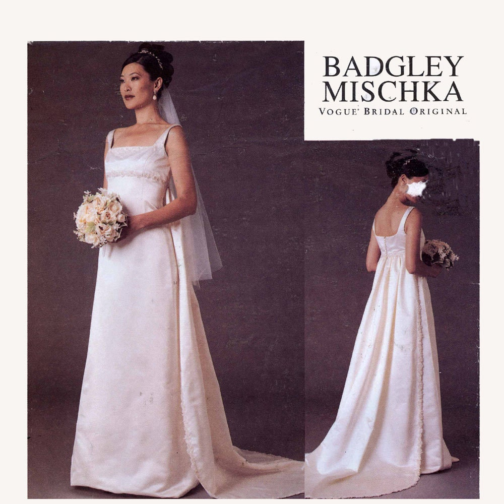 Bridal patterns sewing image collections craft decoration ideas badgley mischka wedding dress with train sewing pattern vogue zoom jeuxipadfo image collections jeuxipadfo Image collections