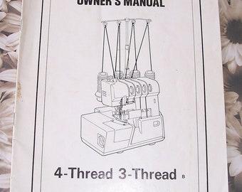 Sewing Manual for Sergemaster 4300 Serger Machine HARD COPY ONLY