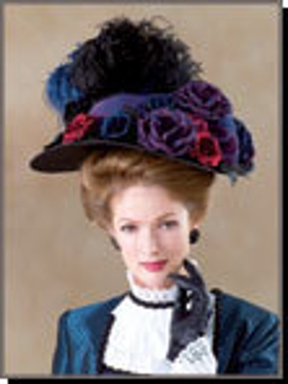 Diy Sewing Pattern-Butterick 4210-Victorian Hats, Bonnets,Elizabethan Hat
