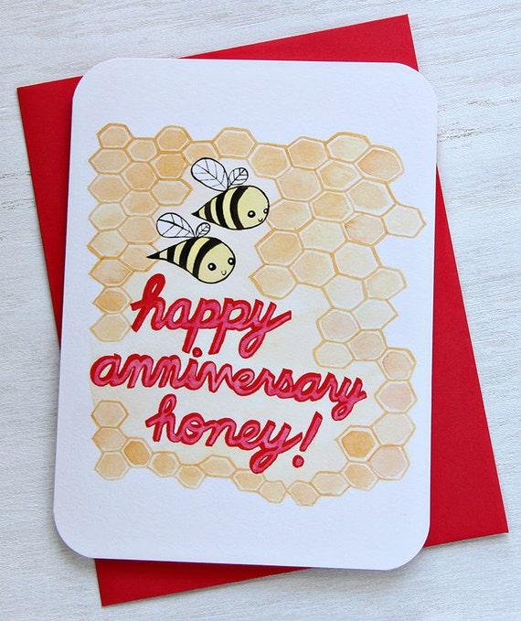 Happy Anniversary Honey-NOTECARD