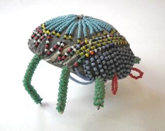 Native American Lakota Sioux Beaded Beetle Bug Vintage