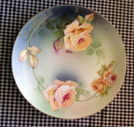1930s Bavaria Hand Painted Plate - Pierre